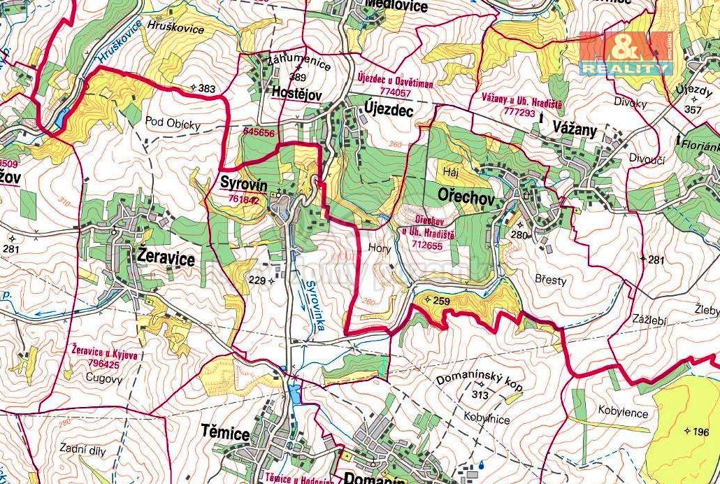 Prodej zemědělské půdy 1162 m², Syrovín
