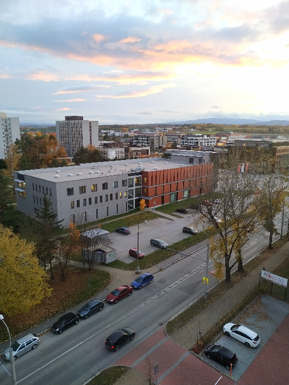 Výhled z 9 patra