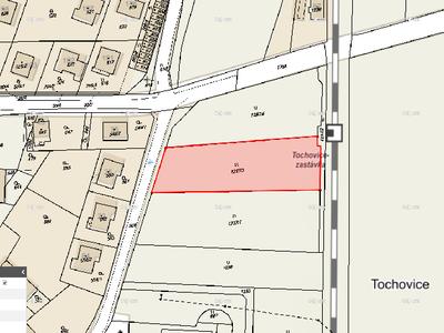 Prodej stavební parcely 2209 m² Tochovice