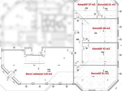 Pronájem kanceláře 300 m² Havířov