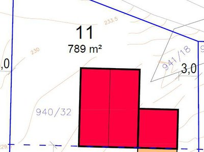 Prodej stavební parcely 789 m² Dobšice